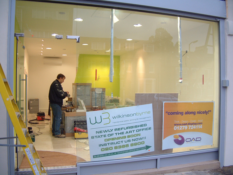 OAD Creative Design   Glass Shop Fronts   Office Refurbishment